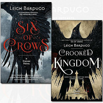 Six of Crows Collection By Leigh Bardugo 2 Books Set Crooked Kingdom NEW Pack CA