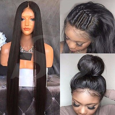 100% Peruvian Virgin Human Hair Lace Front Wig Full Lace Wigs Unprocessed Soft a