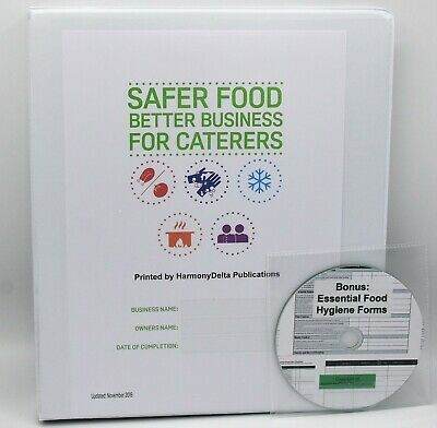 2019 Safer Food Better Business SFBB Caterer Pack & 18 Month Diary & CD & Sign