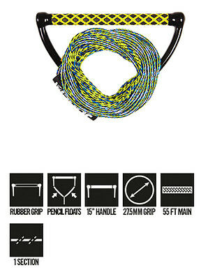Palonnier Wake Combo Prime Yellow Jobe 2017 - avec corde 65ft - Diamètre 27,4mm