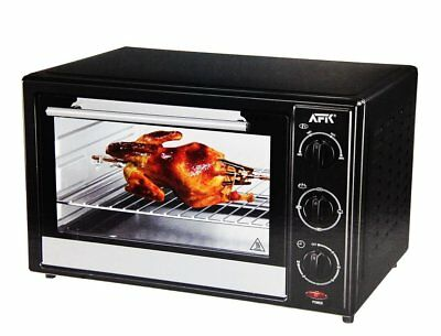afk backofen mit drehspie 28l grill minibackofen ofen. Black Bedroom Furniture Sets. Home Design Ideas