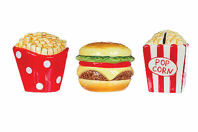 New Childrens Fast Food Money Box Money Savings Gift Novelty Food Safe