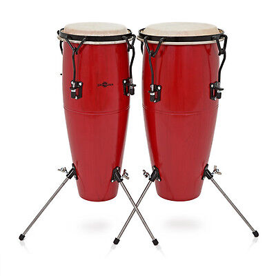 Junior Tunable Conga Set by Gear4music Red