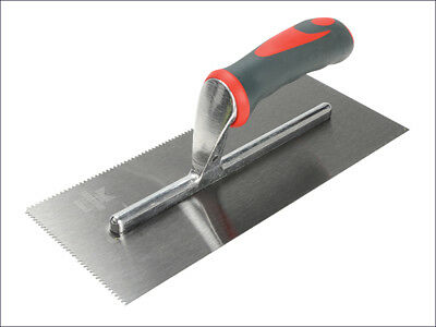 Notched Trowel V 3mm Soft-Grip Handle 11 x 4.1/2in