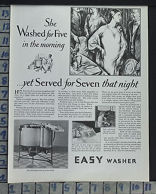 1928 Easy Washer Machine Wife Home Decor Laundry Party Vintage Art Ad Ce10