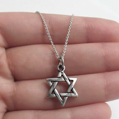 925 Sterling Silver Jewish Star of David Charm with Necklace