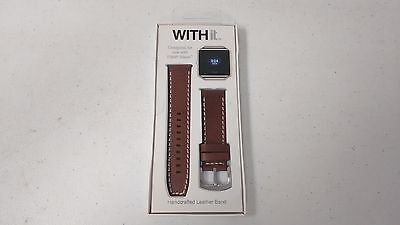 WITHit Leather Watch Band for Fitbit Blaze - Tobacco  NEW