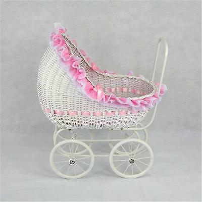 Regal Doll Carriages Isabella Wicker Doll Carriage Buggy Stroller Pram Large