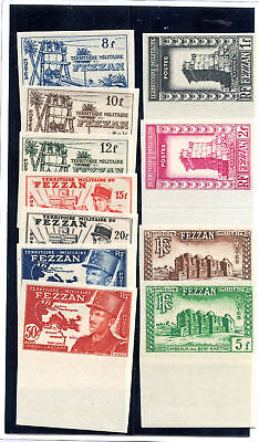 LIBYA, FRENCH OCC. (FEZZAN)  Sc 2N1-11(Y 43-53)**VF NH IMPERF SET $900