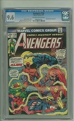 Avengers 126 (CGC 9.6) OW/W pages; Klaw and Solarr appearance; 1974 (c#13555)