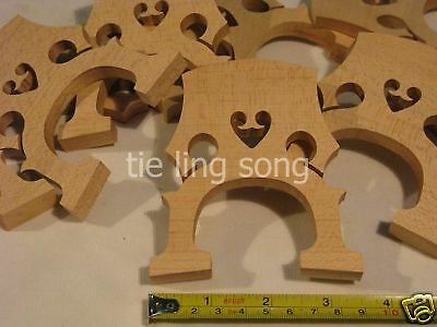 30pcs high quality maple 1/2 cello bridges, laser preci  #6537
