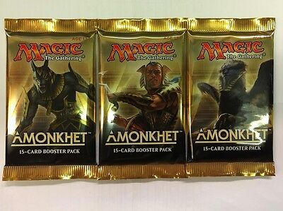 Wizards Of The Coast Magic The Gathering 3x Amonkhet Booster Packs Free UK P&P