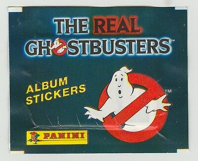 Panini The Real Ghostbusters Ungeöffnet Aufkleber Set Packung Circa 1984