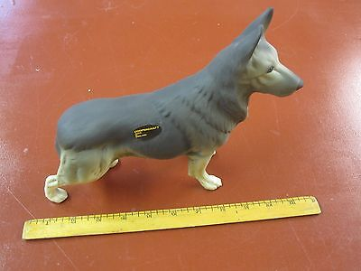 Coopercraft of England matte finished ceramic large German Shepherd dog figurine