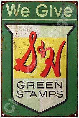 We Give S&H Green Stamps Vintage Look Reproduction 12x18 Metal Sign 2180074