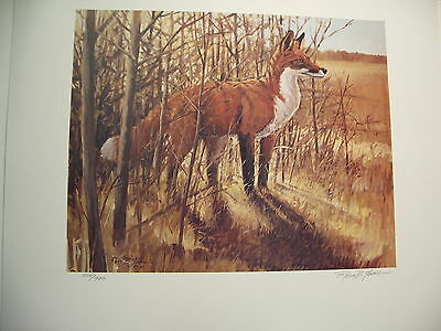 Ross B. Young  L.E. Signed print  Red Fox