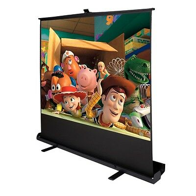 """100"""" Inch 4:3 Portable Pull up Floor Projector Projection Screen aluminium Case"""
