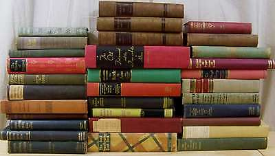 Lot of 10 ANTIQUE & VINTAGE Old Books Collection Set MIXED UNSORTED Hardcovers