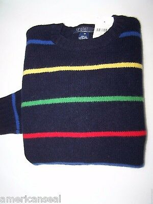 Nwt Polo Ralph Lauren Lambswool Sweater, Kid Size L
