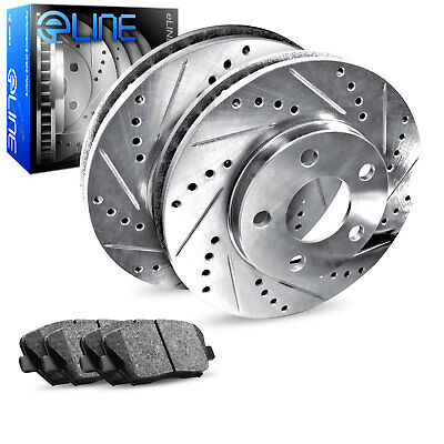 Ceramic Brake Pads Fit 2010-2013 Kia Forte Koup Rear Drill Slot Brake Rotors