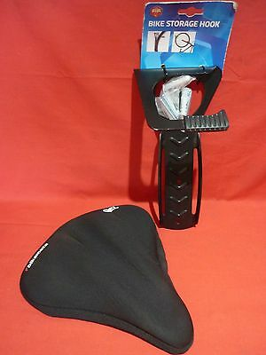 Bikemate Bicycle Large Gel Seat Cover Vgc With A New Bike Storage Hook