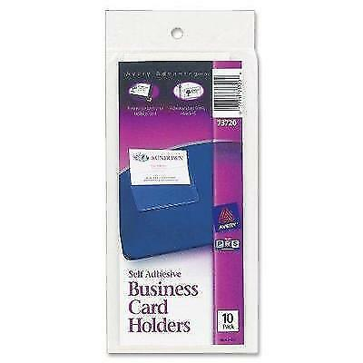 Avery Self-Adhesive Top-Load Business Card Holders, 3.5 x 2 Inches, Clear, 10