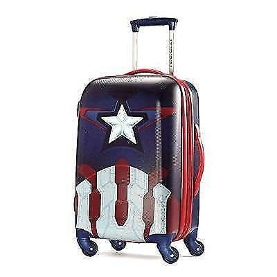 American Tourister Marvel 20 Inch Spinner Carry On Luggage, Captain America New