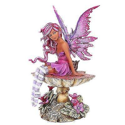 Amy Brown Licensed Magenta Fairy Statue Polyresin Figurine Home Decor New