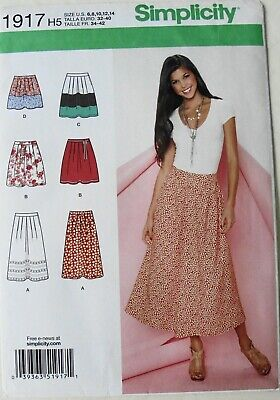 Simplicity Sewing Pattern 1465 H5 Misses Skirt in Two Lengths Sizes 6-14