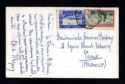 15768-SPANISH MOROCCO-SPAIN COLONIES-POSTCARD TETUAN to FRANCE.1953.MARRUECOS.