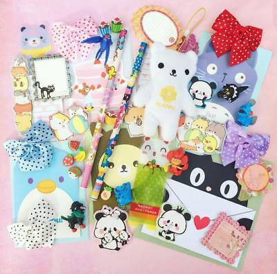 Pre Filled Kawaii Party Bags 10 ITEMS Kids Girly Pink Cute Stationery Girl Gift