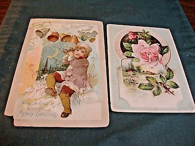 2 Woolson Spice Victorian Trade Card Advertising Lion Coffee