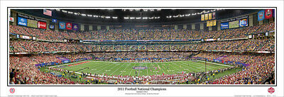Alabama2011 National Champions BCS Game Unframed Panoramic Poster 5031