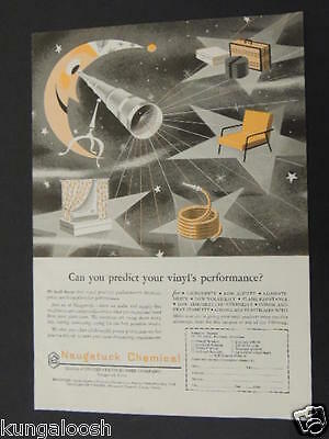 1953 Can You Predict Your Vinyl's Performance? Naugatuck Chemical Vintage Ad