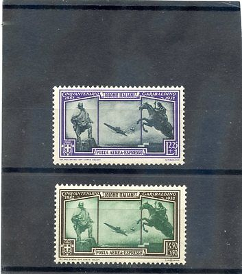 ITALIAN COLONIES Sc CE1-2(MI 35-6)*F-VF LH 1932 AIR SPECIAL DELIVERY SET $40