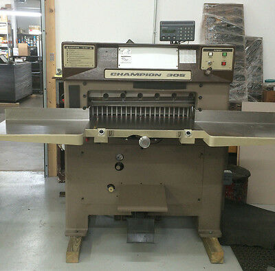"""CHALLENGE 305MPC PAPER CUTTER, Semi-Automatic Power Clamp and Cut, 30-1/2"""""""