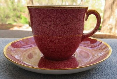 Royal Winton Mottled Pink Demitasse Cup and Saucer Set with Gold Trim  England