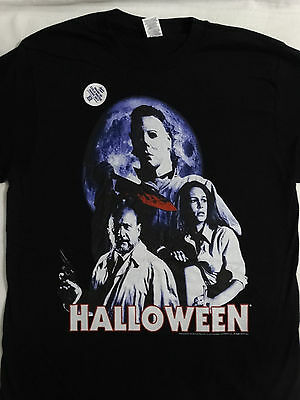 Michael Myers Halloween Horror Movie Dr. Loomis Laurie T-Shirt