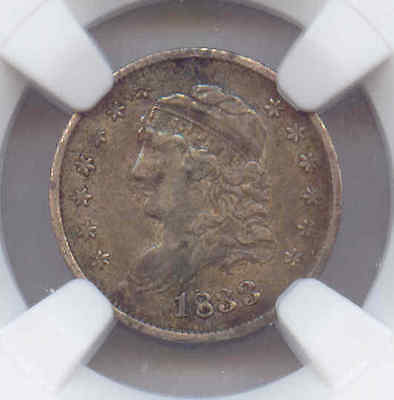 1833 Capped Bust Half Dime, NGC Certified VF-25 (Original Coin)