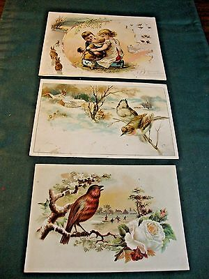 3 Victorian Trade Cards For Woolson Spice Co Advertising Lion Coffee