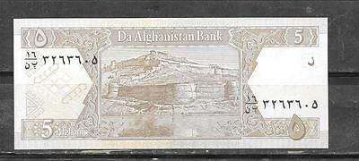 AFGHANISTAN #66a 2002 UNc MINT 5 AFGHANIS BANKNOTE BILL NOTE PAPER MONEY