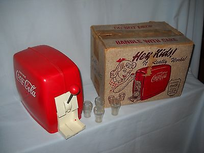 50's COCA COLA  Toy Soda Fountain Dispenser w Glasses/ Coke Bottle / Box