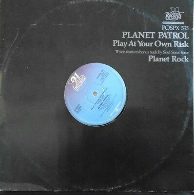 "PLANET PATROL ~ Play At Your Own Risk ~ 12"" Single PS"