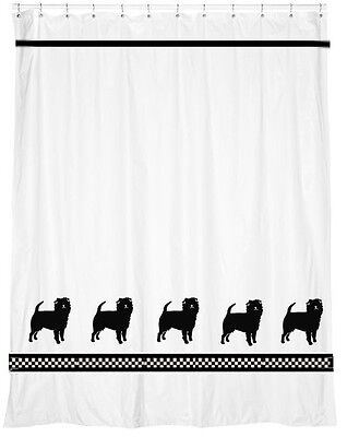 Affenpinscher Dog Shower Curtain *Our Original* Your Choice of Colors