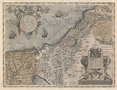 1603 Ortelius Map of the Holy Land