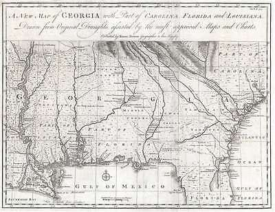 1748 Bowen Map of Georgia - first specific map of Georgia!