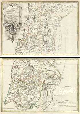1763 Delisle Map of Israel, Palestine or the Holy Land (Set of 2 Maps)