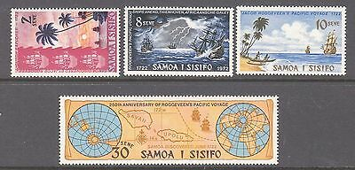 Samoa 1972 25th Anniv Roggeveen's Pacific voyage Mint unhinged set 4 stamps