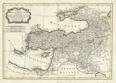 1771 Bonne Map of Turkey, Syria and Iraq (Asia Minor)