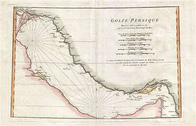 1776 Anville Map of the Persian Gulf